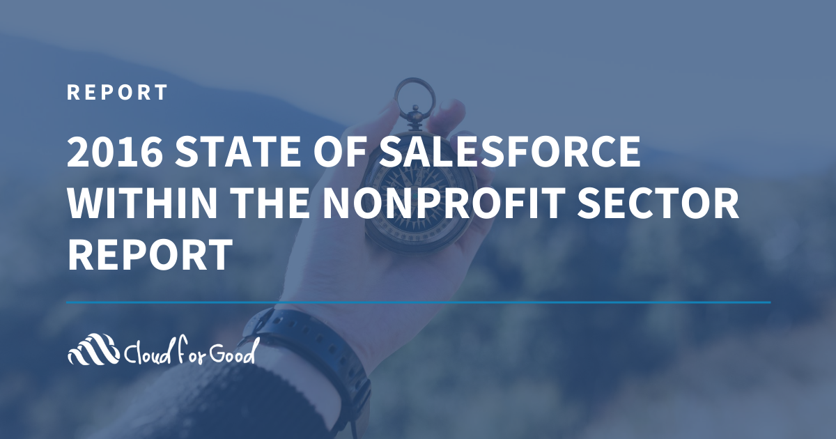 2016 State of Salesforce Nonprofit