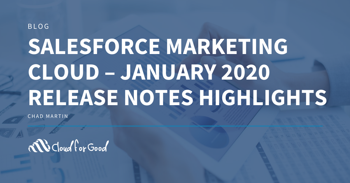 Salesforce Marketing Cloud - January 2020 Release Notes