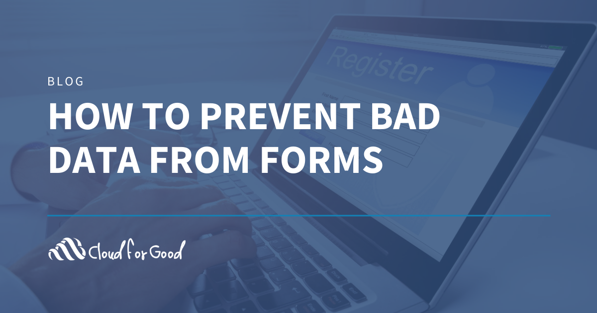 How to Prevent Bad Data from Forms
