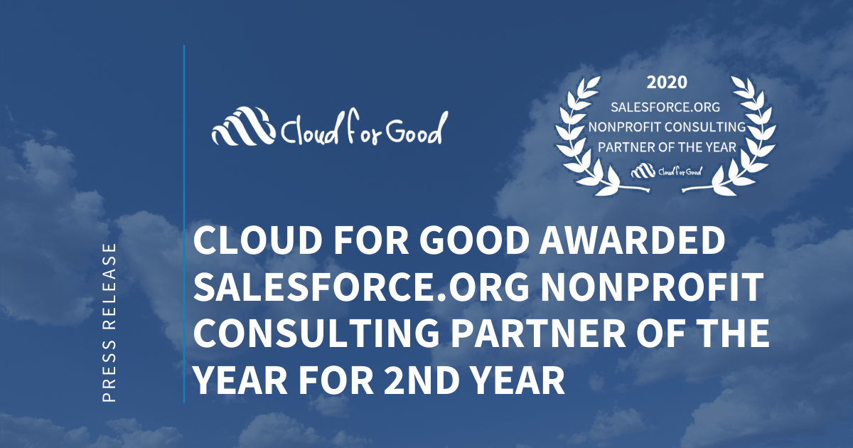 Cloud for Good Awarded 2020 Partner of the Year