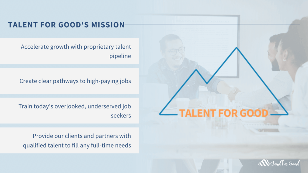 Talent for Good's Mission